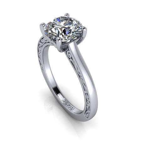 Solitario Diamante Vintage