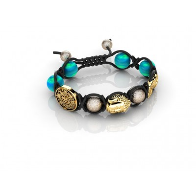 18K Oriental Gemstone Bracelets