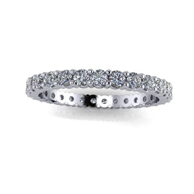 Eternity Ring of Brilliants at 2claws setting