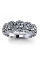5 Halo Diamond Ring