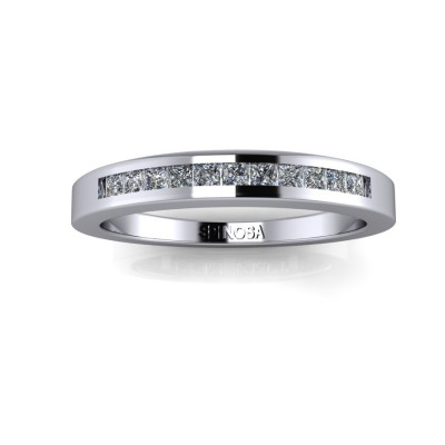 Wedding Ring Set Princess Cut Diamonds