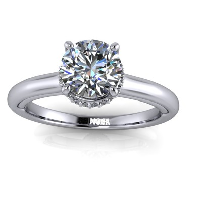 Enagement Ring with Brilliant Halo