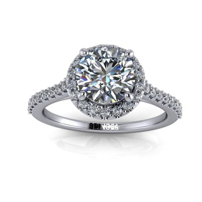Diamond Cushion Cut with Brilliants Halo