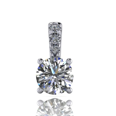Brilliant Cut Solitaire Pendant with four claws