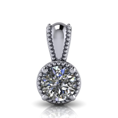 Vintage Style Diamond Pendant with four claws