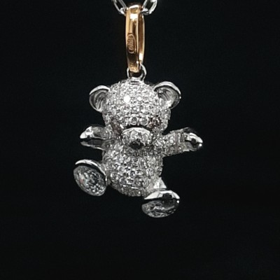 Colgantes de Diamantes con Forma de Osito