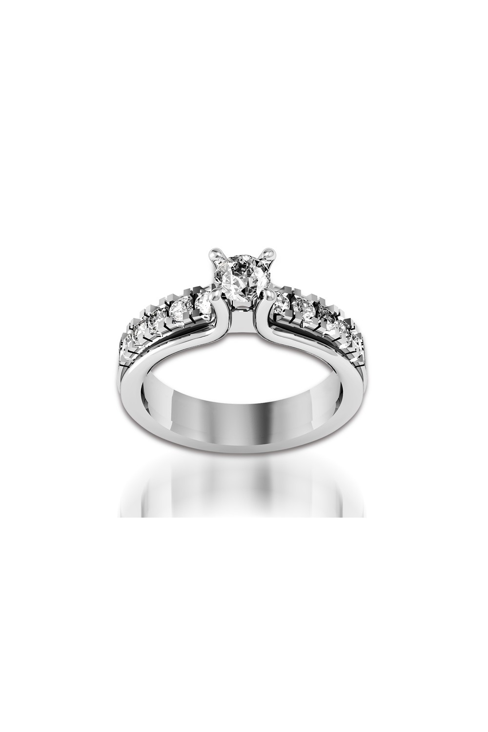 18k solitaire white gold engagement ring. Black Bedroom Furniture Sets. Home Design Ideas