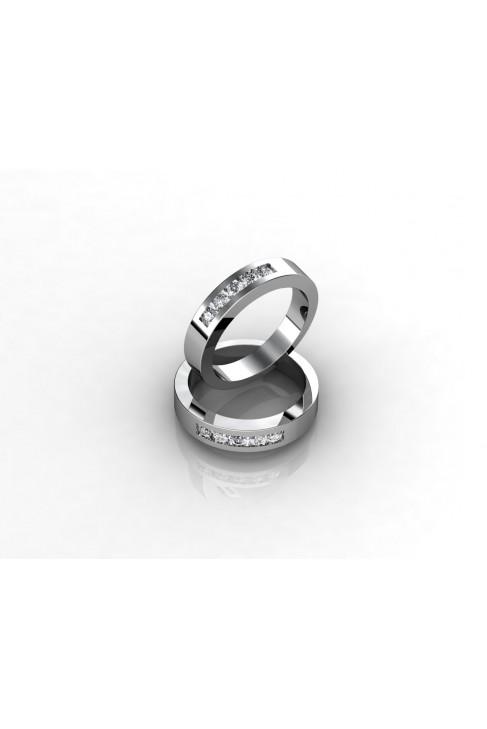 18k White Gold Alliance Engagement Ring