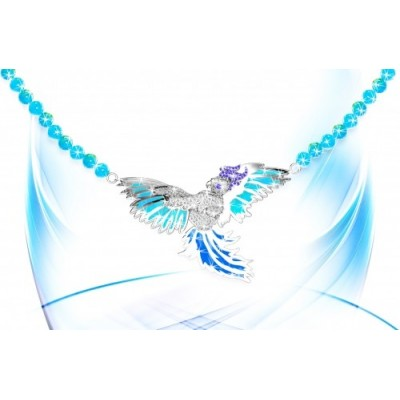 White gold bird pendant with 180 brilliants