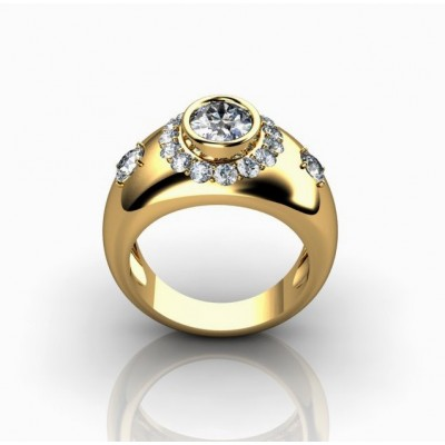 attractive designer diamond ring in oval shape