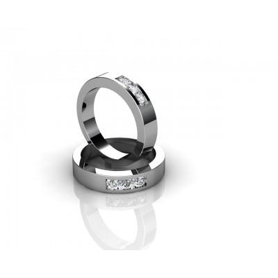 alianza de boda en oro 18k y diamantes