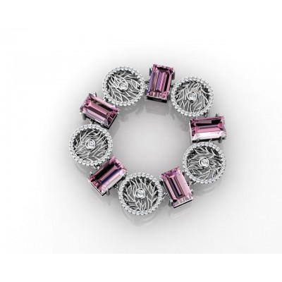 beautiful bracelet with amethysts and brilliants