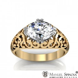 Beautiful Oval Shaped Diamond Ring