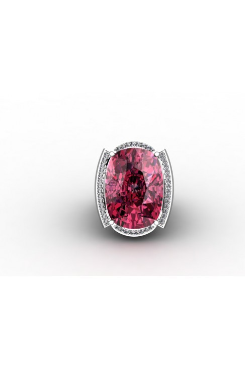Beautiful Silver ring with pink Quartz stone