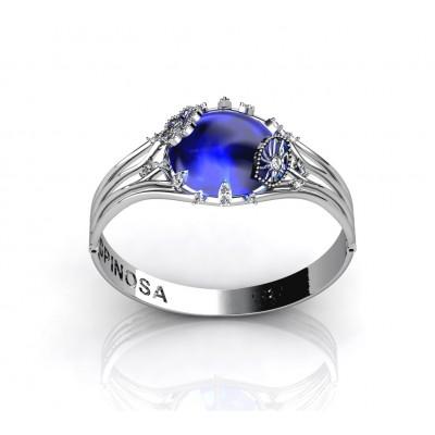 blue topaz flower bracelet