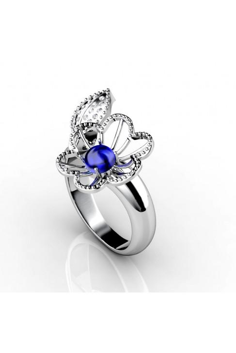 anillo de oro 18k con gema semipreciosa
