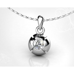 18k White Gold Brilliant Chaton Pendant