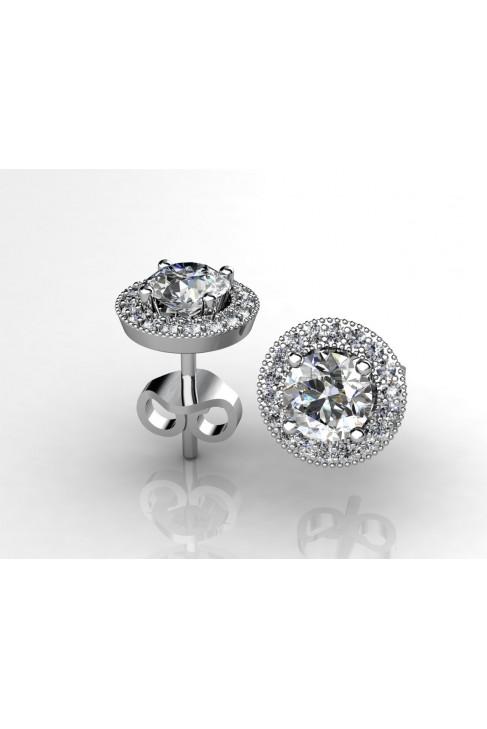 18k White Gold Earrings