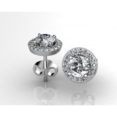 18k White Gold Earrings