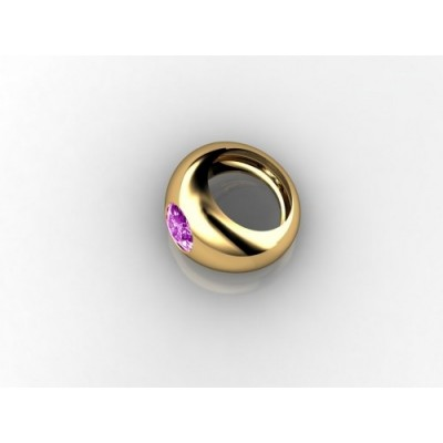 18k yellow gold amethyst gemstone ring