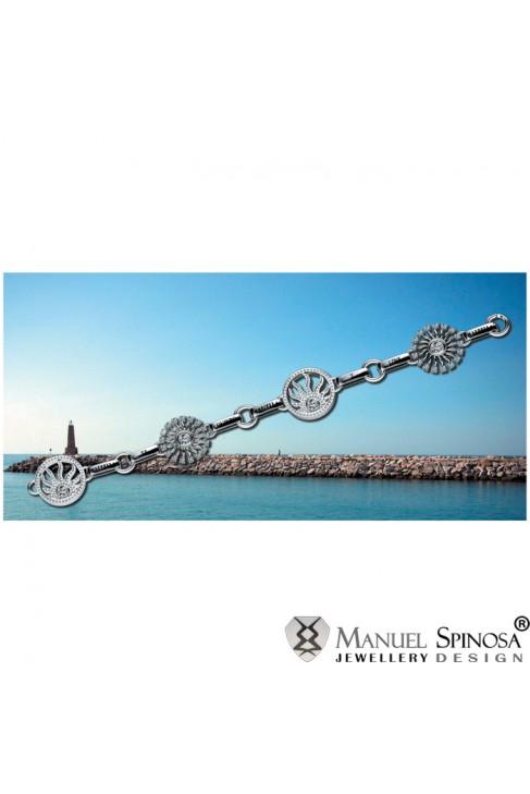 Браслет из серебра 925 в форме солнца