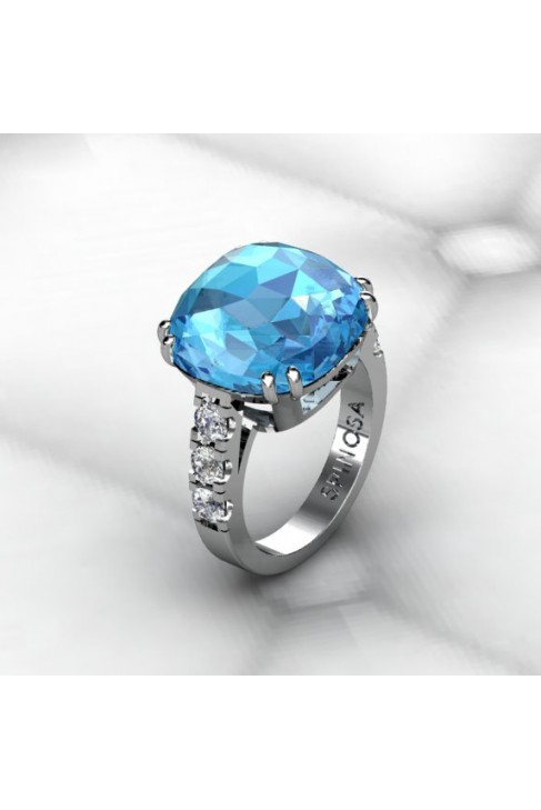 bright blue topaz ring with brilliants