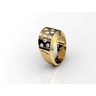 18K contemporary diamond gold ring