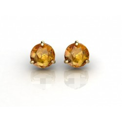 Classic Gemstone Gold Earrings