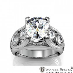 designer engagement ring with 24 brilliants