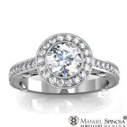 engagement diamond ring with 54 brilliants