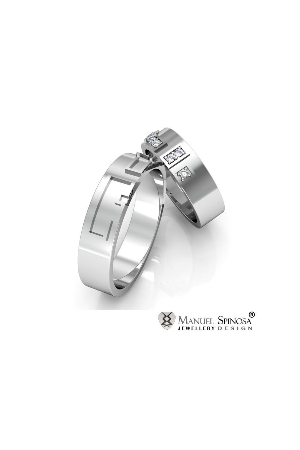 engraved 18 karat white gold wedding rings With 18 karat wedding rings