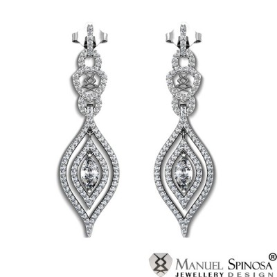 exclusive earrings with diamonds