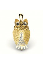 fortune owl pendant with brilliants and topaz
