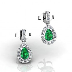 gorgeous emerald earrings with diamonds