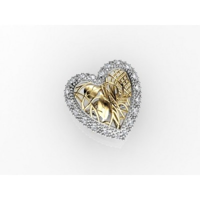 Heart Shaped Silver Ring