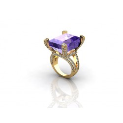 luxurious gemstone ring