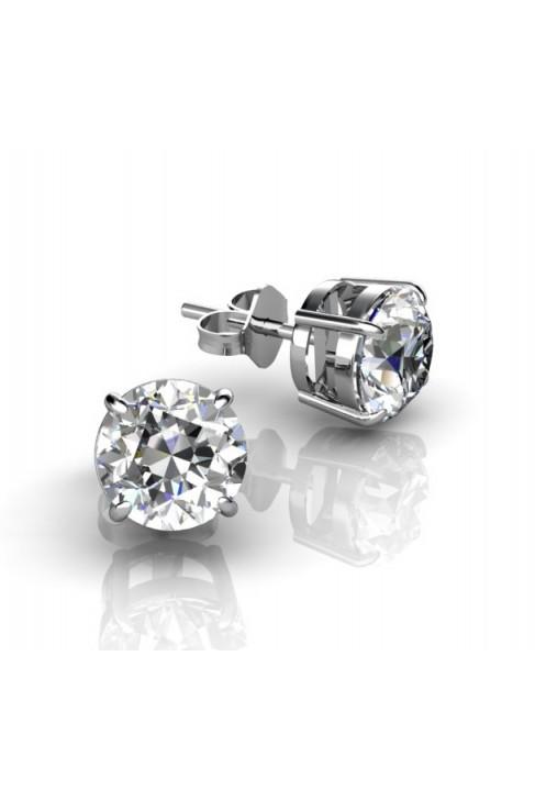 Серьги с бриллиантами, закрепленными четырьмя лапками