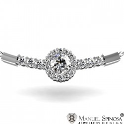 magnificent necklace with diamond and 20 Brilliants